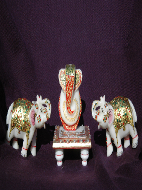 Marble Choki Ganesh In Hyderabad