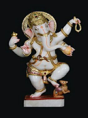 Marble Dancing Ganesha In Lucknow
