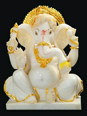 White Marble God Ganesh In Rajkot