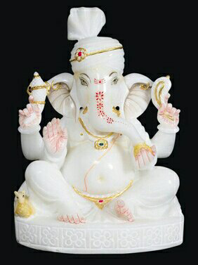 White Marble Lord Ganesh In Rajkot