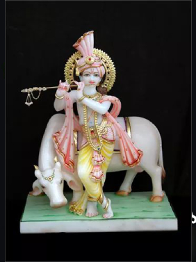 Marble Gopal Statue In Indore