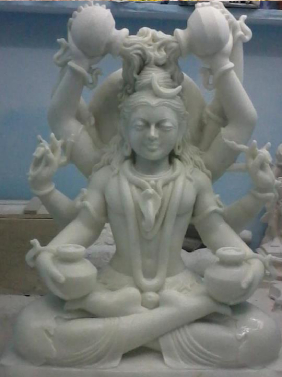 Marble Four Hand Shiv Statue In Haryana