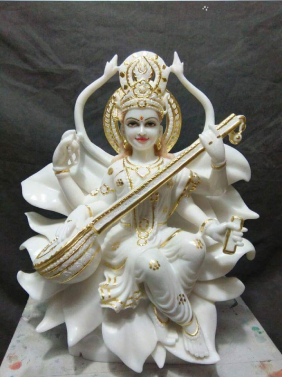 White Marble Saraswati In Nagpur